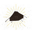 retro tent silhouette logo vector image