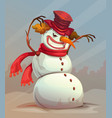 scary snowman vector image