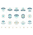 seafood logos or signs set vector image