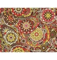 seamless graphical paisley ethnic print vector image vector image