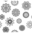 Seamless pattern with silhouettes of flowers vector image