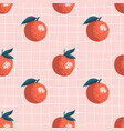 seamless summer pattern with oranges on retro vector image