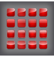set blank red buttons vector image