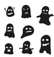 set halloween ghosts vector image