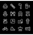 Set line icons of camping vector image vector image
