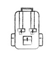 sketch draw travel backpack cartoon vector image