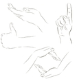 Sketches of hands vector image