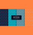 small triangles cute patterns set in four colors vector image vector image