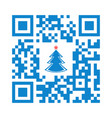 smartphone readable qr code merry christmas vector image