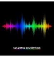 Sound wave background vector image vector image