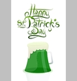 St Patrick Day greeting card design vector image vector image