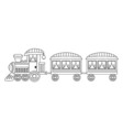Steam Train vector image vector image