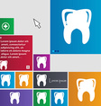 Tooth icon sign buttons Modern interface website vector image