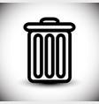 trash can symbol eps10 vector image