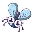 tropical fly icon cartoon style vector image vector image