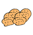 two challah on shabbat hand draw doodle vector image