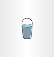 water bucket icon design vector image vector image