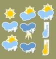Weather forecast stickers vector image vector image