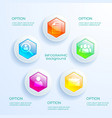 web abstract infographic concept vector image