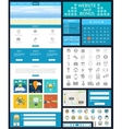 Website page template Web design vector image