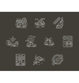 White line car insurance icons set vector image vector image