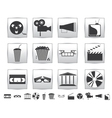 Movie icons Film and square icon vector image