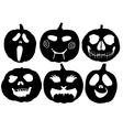 Halloween Pumpkin Silhouette vector image