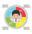 Man info Graphic Plan Circle Colorful vector image