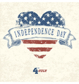 independence day concept card vector image