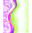 Abstract colorful soft focus background vector image