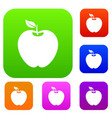 apple set collection vector image vector image