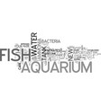 aquarium care for freshwater fish text word cloud vector image vector image