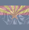 arizona state silk flag vector image vector image