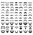 Beard with moustache vector image