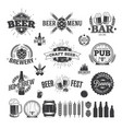 beer label and logos vector image vector image