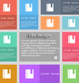 book bookmark icon sign Set of multicolored vector image