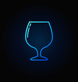 brandy or cognac glass icon vector image vector image