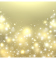 christmas gold background new year glowing light vector image vector image