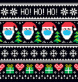 christmas seamless pattern with santa in mask vector image