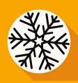 christmas snowflake on white circle with a long vector image vector image