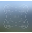 Circle line infographic vector image vector image