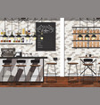 coffee shop interior vector image vector image