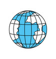 color sectors silhouette of earth globe with vector image vector image