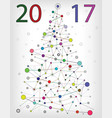 colored molecular christmas tree vector image vector image