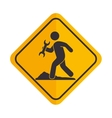 construction signal worker icon vector image vector image