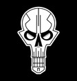 cool skull logo on black background vector image