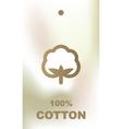 Cotton tag vector image