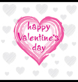 creative valentines day greeting card design vector image