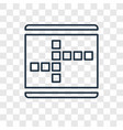 crossword concept linear icon isolated on vector image