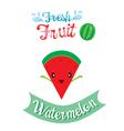 Cute Cartoon Of Watermelon Fruit Banner Logo vector image vector image